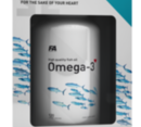 FA Nutrition - Omega 3 (Lemon Flavor) / 120 softgels.