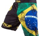Шорти - VENUM BRAZILIAN FLAG FIGHTSHORTS / BLACK​
