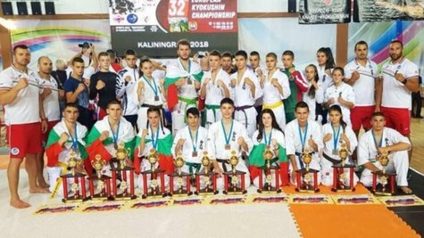 Силно представяне за младите национали по киокушин на европейското в Русия