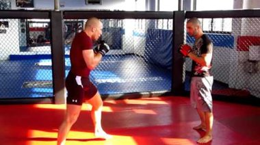 Georges St Pierre  Training for UFC 129 - In the Ring  3