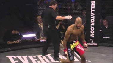 Christian M'Pumbu's uppercut knockout of Tim Carpenter at Bellator 42