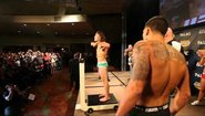Clay Guida vs Anthony Pettis staredown video from the TUF 13 Finale weigh ins