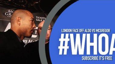 McGregor очи в очи с Aldo в Лондон