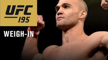 UFC 195 - кантар