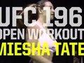 Отворена тренировка на Miesha Tate преди UFC 196