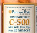 Puritan's Pride - Vitamin C-500 with Rose hips&Echinacea / 100 таблетки​