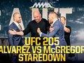 McGregor срещу Alvarez - очи в очи