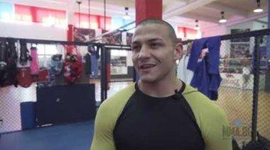 Михаил Николов преди състезанието TWINS MMA 15