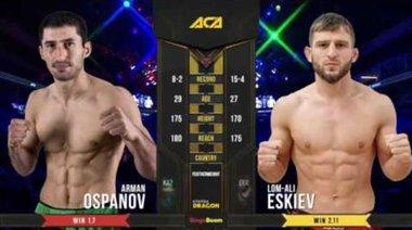 ACA 95: Arman Ospanov vs Lom-Ali Eskijiew