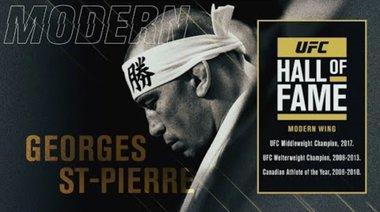 Джордж Сейнт Пиер влиза в залата на славата на UFC