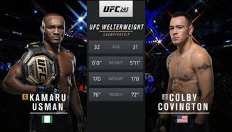 Kamaru Usman vs Colby Covington
