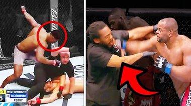 10 пъти, в които UFC бойци губят контрол в клетката