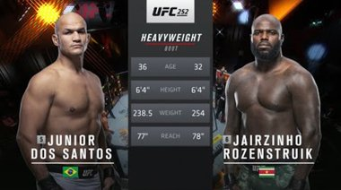 UFC Vegas 20 Free Fight: Ciryl Gane vs Junior dos Santos