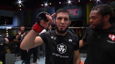 Islam Makhachev Octagon Interview | UFC Vegas 31