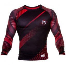 Рашгард - VENUM RAPID RASHGUARD LONG SLEEVES/ BLACK - RED​