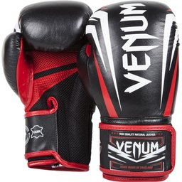 Боксови ръкавици - VENUM SHARP BOXING GLOVES - NAPPA LEATHER BLACK/ICE/RED ​