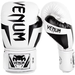 Боксови Ръкавици - VENUM ELITE BOXING GLOVES - WHITE/BLACK​