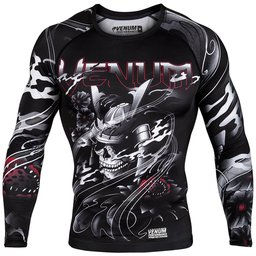 Рашгард - VENUM SAMURAI SKULL RASHGUARD - LONG SLEEVES - BLACK​