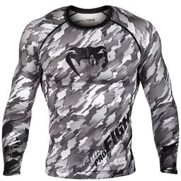 Рашгард -Venum Tecmo Rashguard Long Sleeves - Black/Grey​