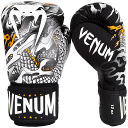 Боксови Ръкавици - Venum Dragon's Flight Boxing Gloves - Black/White​