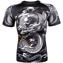 Рашгард - Venum Dragon's Flight Rashguard - Short Sleeves - Black/White​