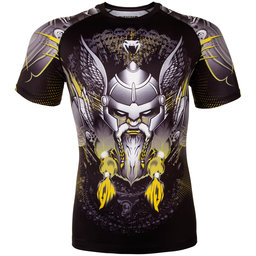 Рашгард - VENUM VIKING 2.0 RASHGUARD SHORT SLEEVES - BLACK/YELLOW​