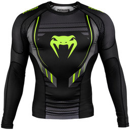 Рашгард - Venum Technical 2.0 Rashguard - Long Sleeves - Black/Yellow​
