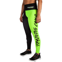 Дамски дълъг клин - Venum Training Camp Legging - Black/Neo Yellow​
