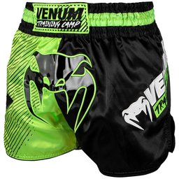 Муай Тай Шорти - Venum Training Camp Muay Thai Shorts - Black/Neo Yellow​