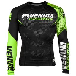 Рашгард - Venum Training Camp 2.0 Rashguard - Long Sleeves - Black/Neo Yellow​