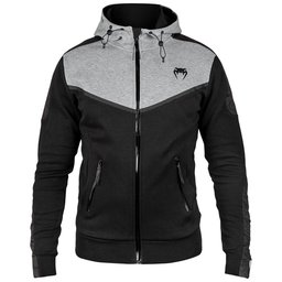 Суичър - Venum Laser Evo Hoodie - Black/Heather Grey​