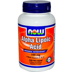 NOW - Alpha Lipoic Acid 100mg. / 120 Vcaps.
