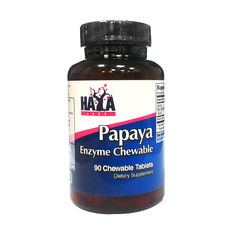 Haya Labs - Papaya Enzyme Chewable / 90 tabs.