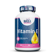 Haya Labs - Vitamin E 400 IU / 100 softgels.