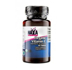 Haya Labs - Organic Vitamin C from Organic Acerola fruit / 60 Tabs.