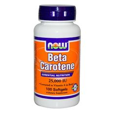 NOW - Beta Carotene 25 000 IU - 100 softgels.