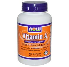 NOW - Vitamin A 25,000 IU - 100 Softgels
