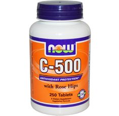 NOW - Vitamin C-500 (Rose Hips) / 250 Tabs.