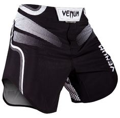 Шорти - VENUM TEMPEST 2.0 FIGHTSHORTS - BLACK/WHITE​