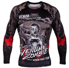 Рашгард - VENUM ZOMBIE RETURN RASHGUARD - LONG SLEEVES - BLACK​