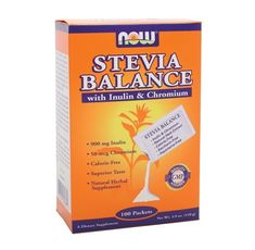 NOW - Stevia Balance with Inulin & Chromium / 100 Packs