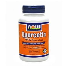 NOW - Quercetin with Bromelain / 120 VCaps.