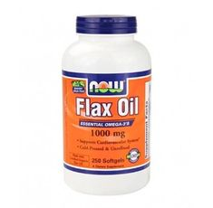 NOW - Flax Oil 1000mg. / 250 Softgels