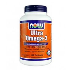NOW - Ultra Omega 3 Fish Oil / 180 Softgels