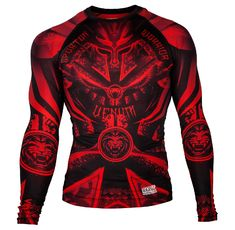 РАШГАРД - Venum Gladiator 3.0 Red Devil Rashguard - Black/Red - Long Sleeves​
