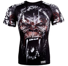 Рашгард - Venum Gorilla Rashguard - Short Sleeves - Black​
