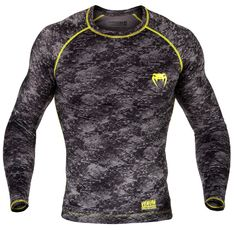 Рашгард - Venum Tramo Rashguard - Long Sleeves - Black/Yellow​