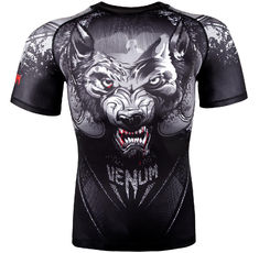 Рашгард - Rashguard Venum Werewolf - Short Sleeves - Black/Grey​