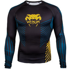Рашгард - Venum Plasma Rashguard - Long Sleeves - Black/Yellow​