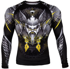 Рашгард - Venum Viking 2.0 Rashguard - Long Sleeves - Black/Yellow​